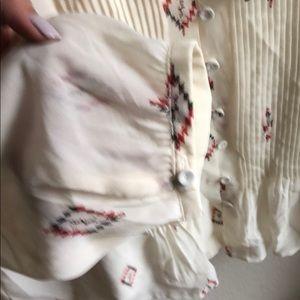 Daniel Rainn Tops - Ikat print button front blouse